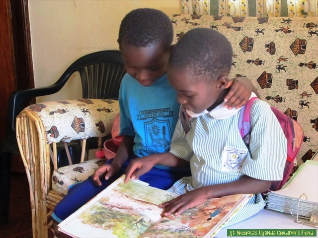 Esther and Shakirah discover the joy of reading.